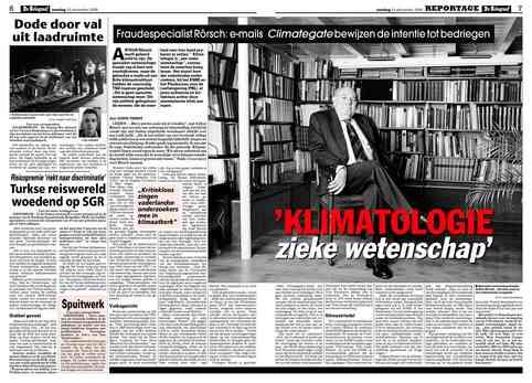 Arthur Rörsch over zieke klimaatwetenschap in de Telegraaf