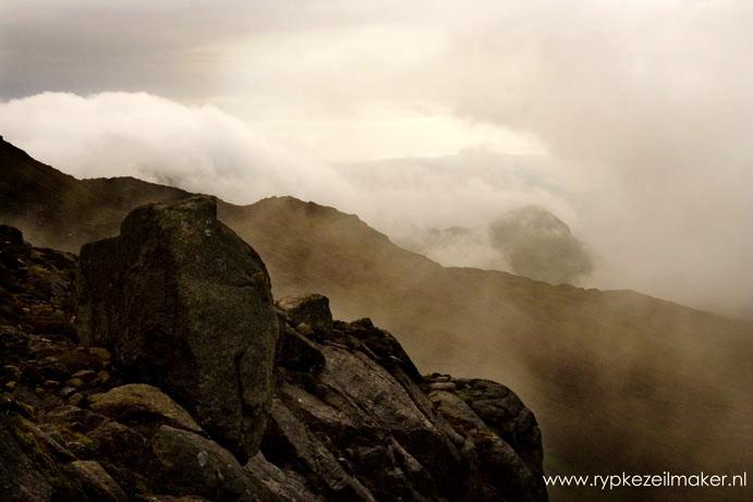fossiele vulkaan op Rum