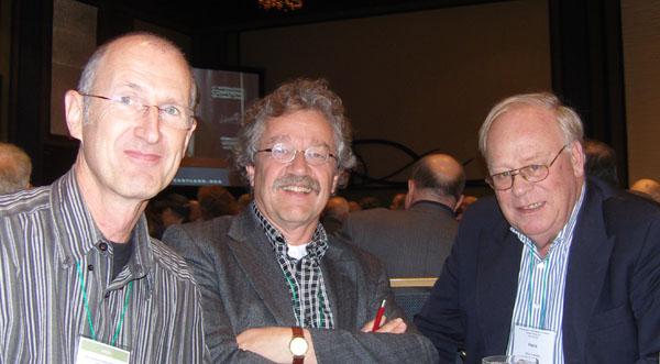 Theo Wolters, Joost van Kasteren en Hans Labohm, de Nederlandse delegatie bij IPCCC4 in 2010
