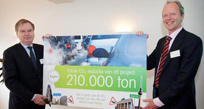 Aanmoedigingstrofee CO2 ambitie 2011 uitegreikt