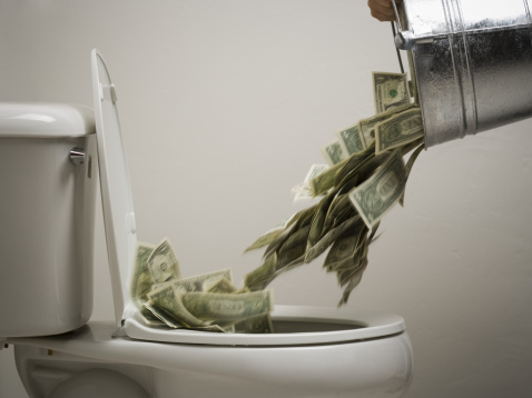 Money-toilet