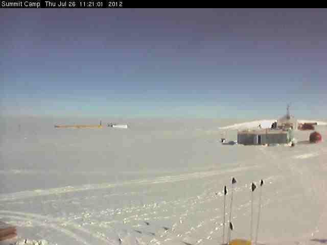De 'verdwenen' Groenlandse ijskap vanochtend