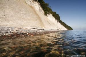Yasmund National Park Rugen: Krijtrotswand uit wereld met hoge CO2 en temperatuur