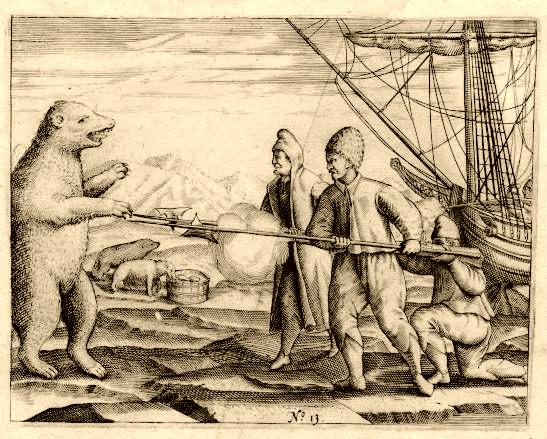 IJsberentellen is geen pretje. Hier de bemanning van Willem Barentsz in 1596 op Nova Zembla