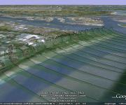 Jarkus-opname langs kust langs 'raaien' met 35 meetpunten