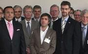 Deelnemers aan de vorige conferentie over euro-alternatieven (BVMW, Berlijn) waar André ten Dam sprak
