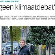 ..wanneer je zoals onze Marcel even zegt van Groen Links te zijn, wil Persson je nog wel een paar  kolommen geven, waar tussen de zinnen zijn afkeuring klinkt tegen klimaatmisdunk: een typische journalist dus..