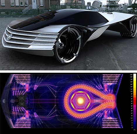 Thorium aangedreven conceptauto van Cadillac