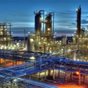 chemisch bedrijf nacht