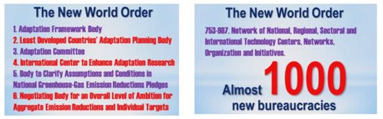 Eerste en laatste slide uit de plannen van de VN onderhandelaars