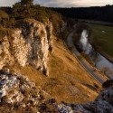 Fossiel koraalrif bij Solnhofen Beieren