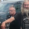 Palingroker Den Oever, Gandalf met Jack Daniels shirt, een mooi exemplaar!