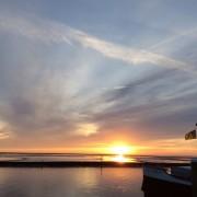 Vanochtend in haven West: een heerlijke turbinevrije rustgevende horizon