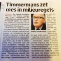 Doet Timmermans eindelijk  iets goeds, Twitteren Corbey en haar Groen Linkse companen ' schande schande'