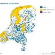 Bron PBL: Alle blauwgroene oppervlak is natuur BUITEN Natura 2000