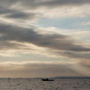 Zoetwatervissers in Oderdelta