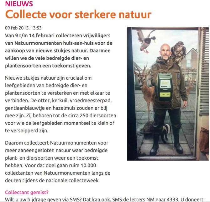 Liegen werd tweede natuur van Natuurmonumenten. Deze boswachter wordt al belaagd door de dieren, die zijn Natuurmonumenten ook beu.