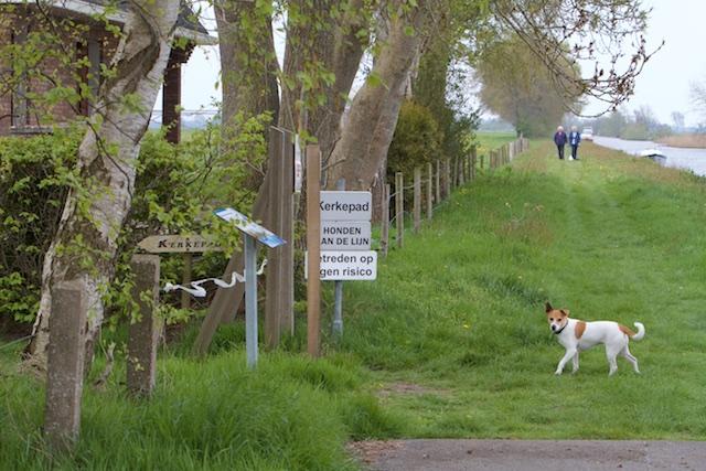 Na 1 kilometer bejaarden-barriere volgt het kerkenpad, over het boerenerf
