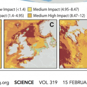 Bron: Halpern et al, Science 2008, zie figuur C: groen betekent lage ecologische impact