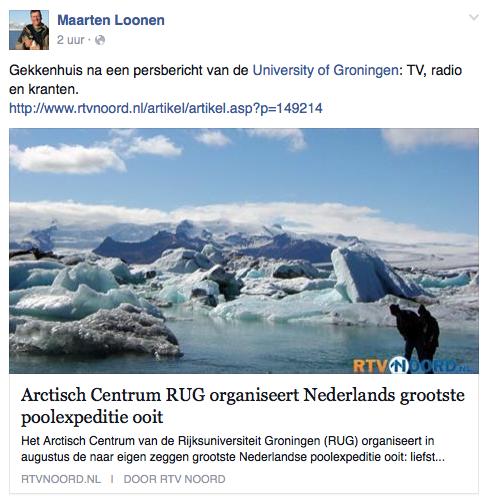 De RUG, een reisbureau voor arctisch academisch toerisme
