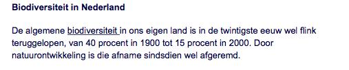 Copy paste-journalistiek van NU.nl rechtstreeks overgenomen van het Compendium voor de Leefomgeving