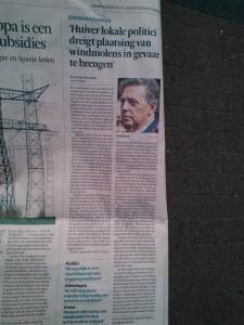 Zonder tegenspraak mocht Ed Nijpels als goedmakertje lokaal gekozen bestuurders neersabelen die voor hun kiezers opkomen, omdat die zijn windhandel zouden hinderen