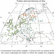 Gemengd bos tot ver in Scandinavie: Bron Climate Dynamics Prentice et al 1996