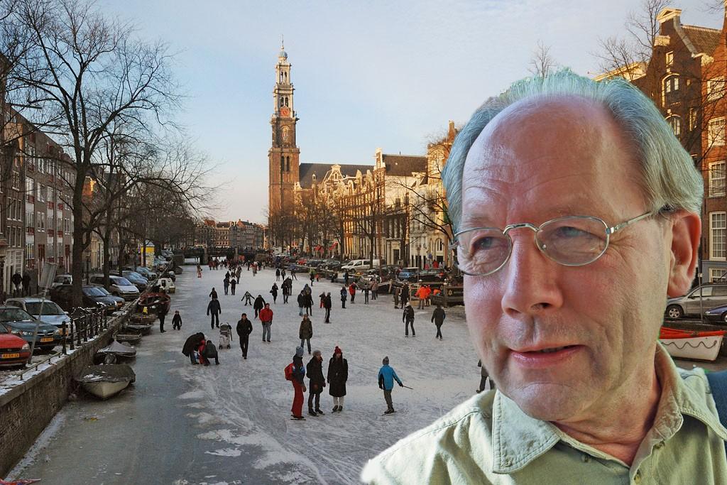 Bijkerk achtergrond schaatsen Amsterdam