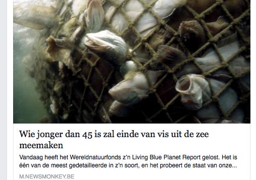 Geen vis meer uit zee omdat milieuclubs alle vissers van zee af pesten