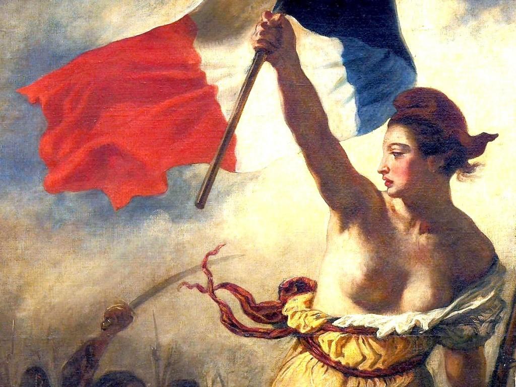 Marianne La-Liberté-guidant-le-peuple-by-Eugène-Delacroix-painting-from-1830-Detail