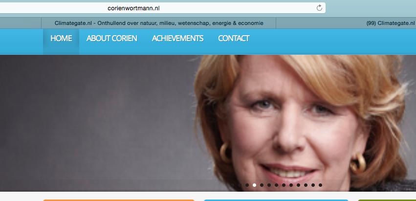 Ze heeft haar eigen promotie-website en is van CDA: de C staat voor Cynisch