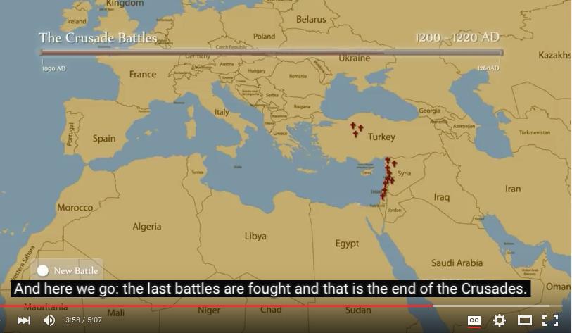 De kruistochten, een paar kloppartijtjes in een beperkte regio in een beperkt tijdvak