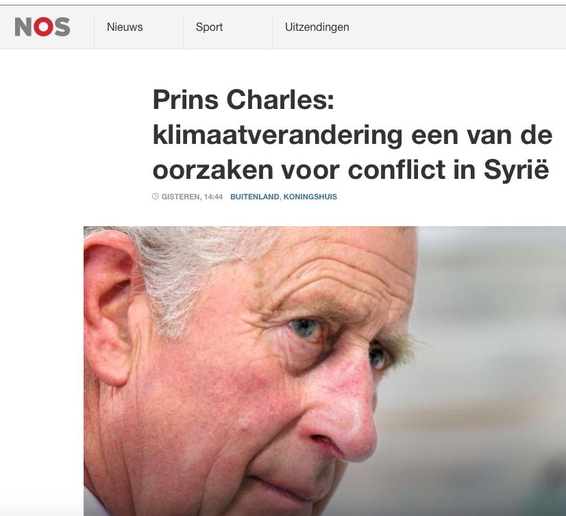 Prins Charles is hier verkeerd geciteerd, hij bedoelde het kabouterprobleem