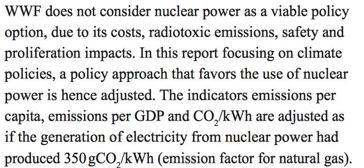 Omdat wij net als Greenpeace teugen kernenergie zijn, geven we er gewoon evenveel emissies bij als voor stroom op aardgas...Dat zuigen we uit onze groene duim