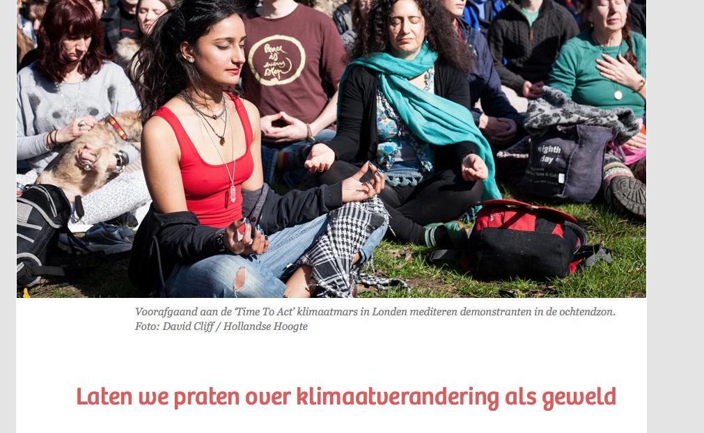 Nee Groene policor-hipsters van De Correspondent: klimaatBELEID is een vorm van geweld