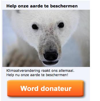 Geef je meer om mensen en menselijke waarden of om ijsberen/Greenpeace?