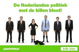 Er is alleen politieke wil nodig om te willen wat Greenpeace/de milieubeweging wil