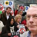 Jeroen achtergrond fracking protest Brussel