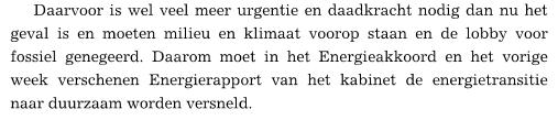 De Partij-Ideologie wordt er in De Telegraaf zelfs ingeramd.....van Energie-Vernichtung