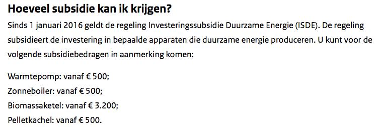 Subsidies voor houtkachels in diverse formaten, om van het gas af te komen. Dat wil Kamp verpatsen aan het buitenland.