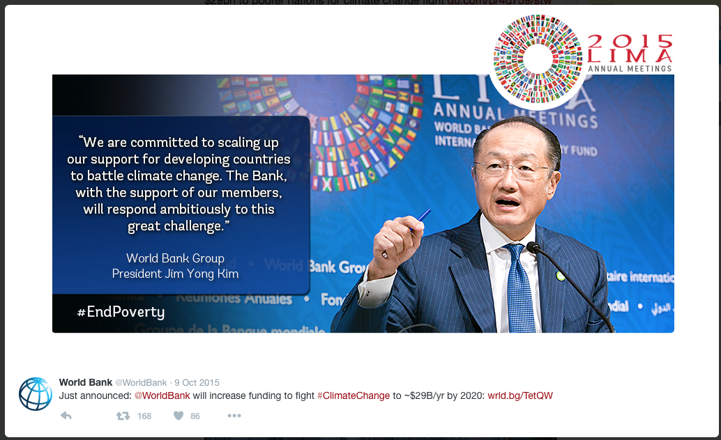 Ha Fijn, de Wereldbank gaat het weer van de toekomst veilig maken!