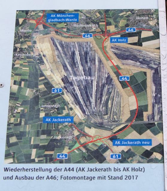 Concessiegebied, er wordt een complete snelweg voor omgelegd tussen Dusseldorf en Aken