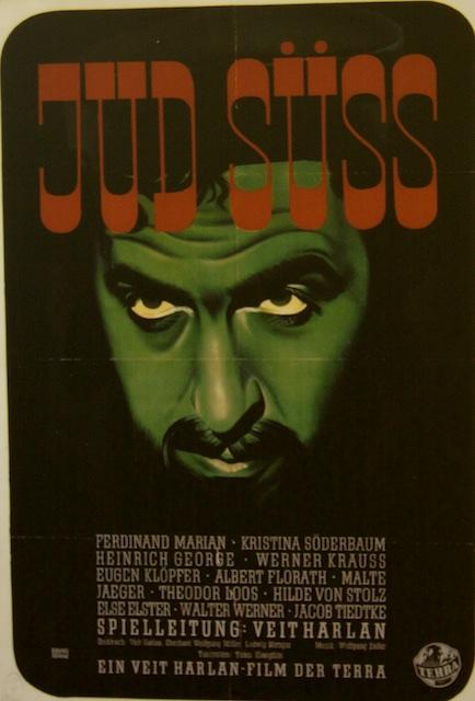 Propaganda-affiche voor film die haat tegen Joden moest aanwakkeren