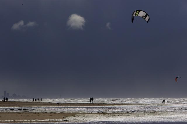Helse paniek ook vandaag weer aan het Katwijker strand