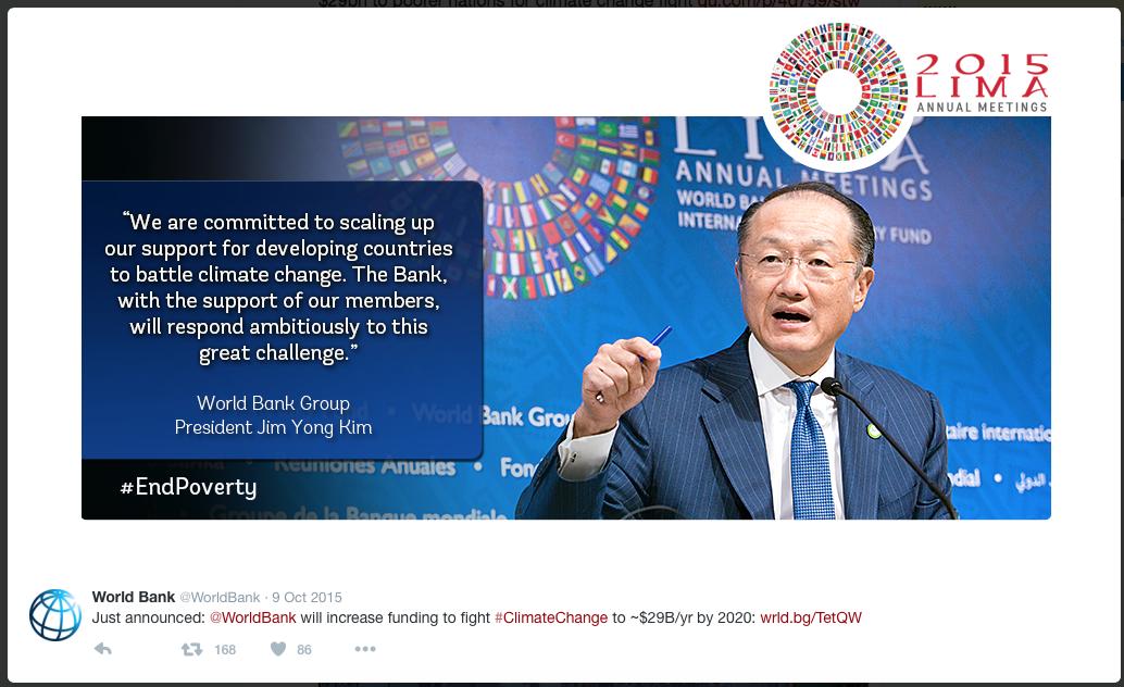 De Wereldbank doet lekker mee...