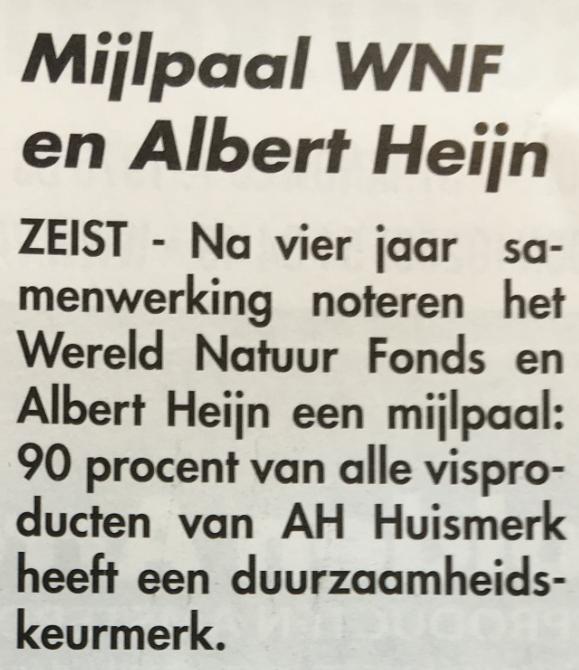 WNF pusht het duurzaamheidsmonopolie van MSC dat bij Nederlandse visserij niets toevoegt behalve kosten