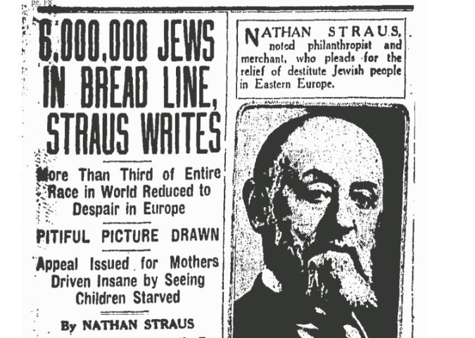 In 1919 circuleerde de 6 miljoen als getal voor alle Oost Europese Joden, die onder Russisch regime bedreigd zouden zijn