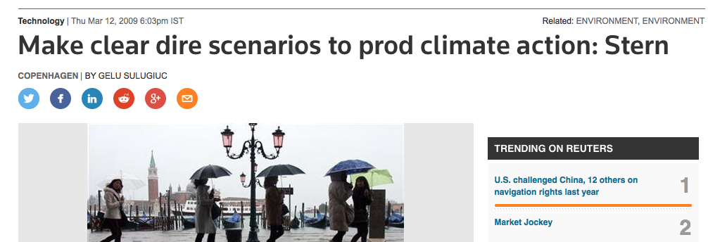 De Strijd Tegen Klimaatverandering. Bij Kopenhagen kregen wetenschappers ook de opdracht alles zo ernstig mogelijk voor te stellen