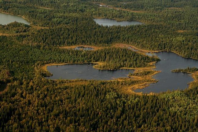 Hoe kun je Finland (Kvarken archipel vanuit vliegtuig genomen) nu eerlijk vergelijken...