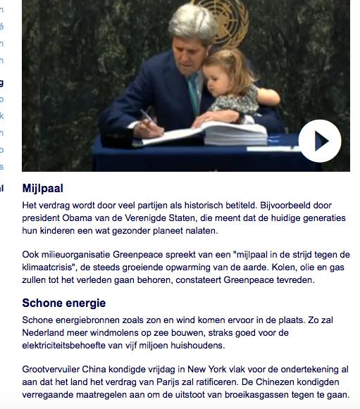 Leugenfabriek BV Nu.nl verkoopt de PR met John Kerry van Globe International die net als Hitler met een kind op de foto moet